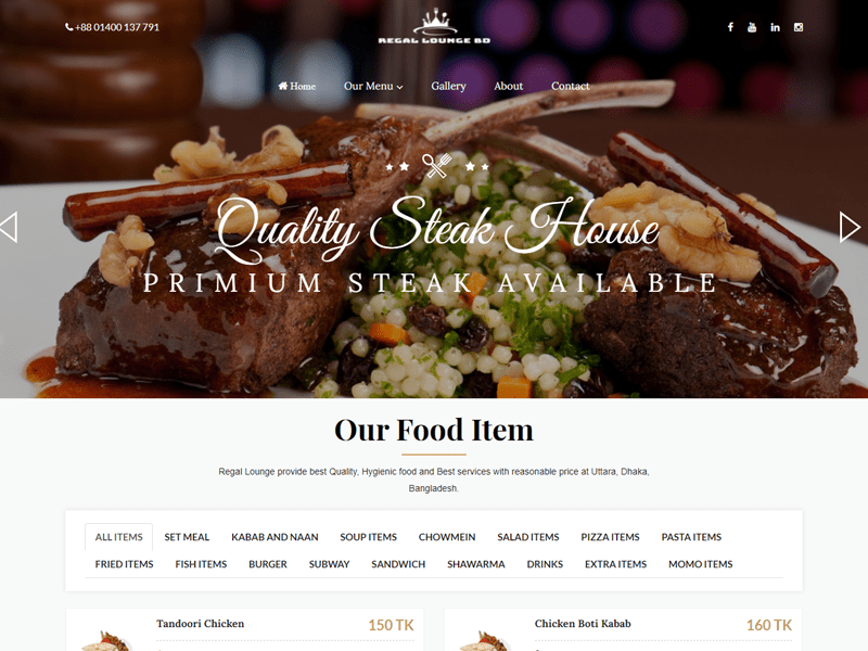 Hotel & Restaurant Website List