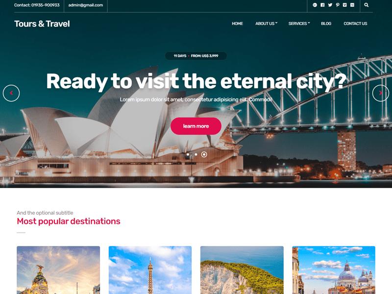 Tours & Travels Website List